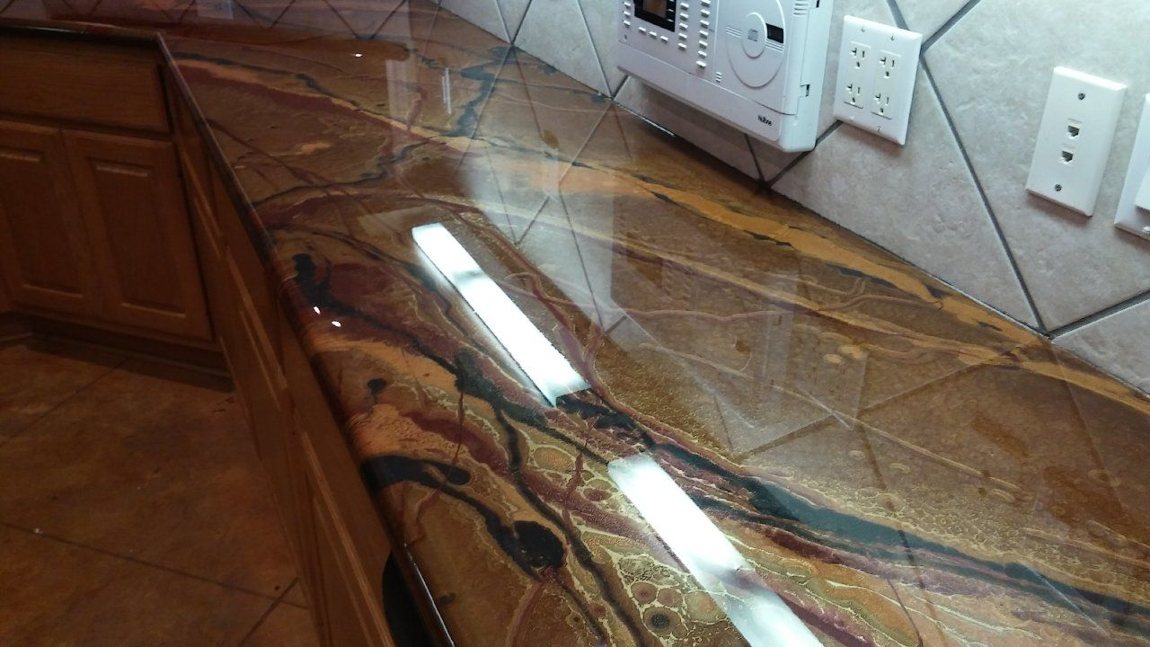 Houston/ Texas/ Kitchen/ Concrete Countertops/ Concrete Staining/ Epoxy/  Metallic/
