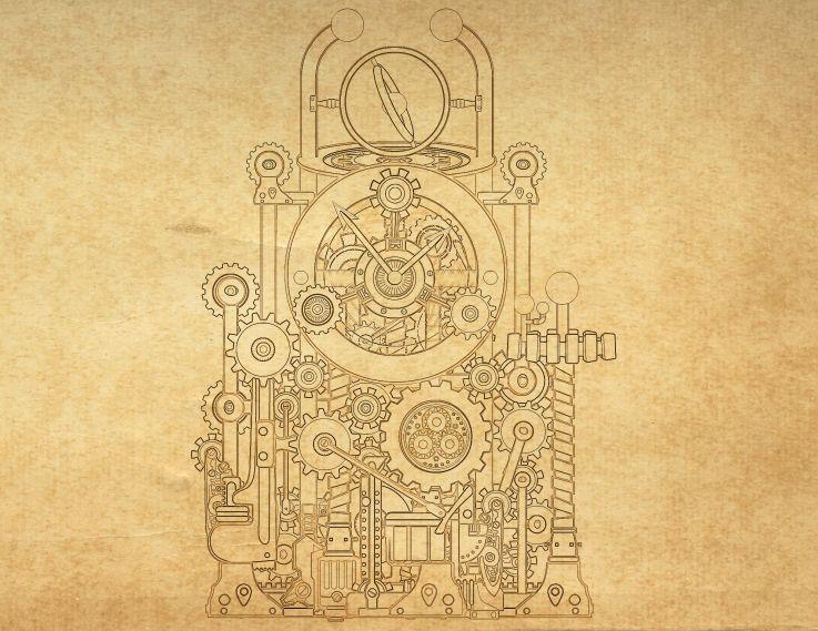 blueprints - steampunk theme | den room | pinterest ... steampunk engineering schematics