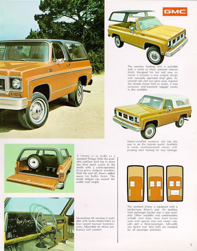 Car Brochures 1973 Chevrolet And Gmc Truck Brochures 1973 Gmc Jimmy 03 Jpg Classic Trucks Gmc Trucks Gmc