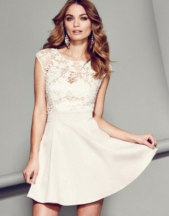 55d71b0676 Lipsy Lace Top Skater Dress. I think I found my engagement party dress!!!!  its 5 months away lol