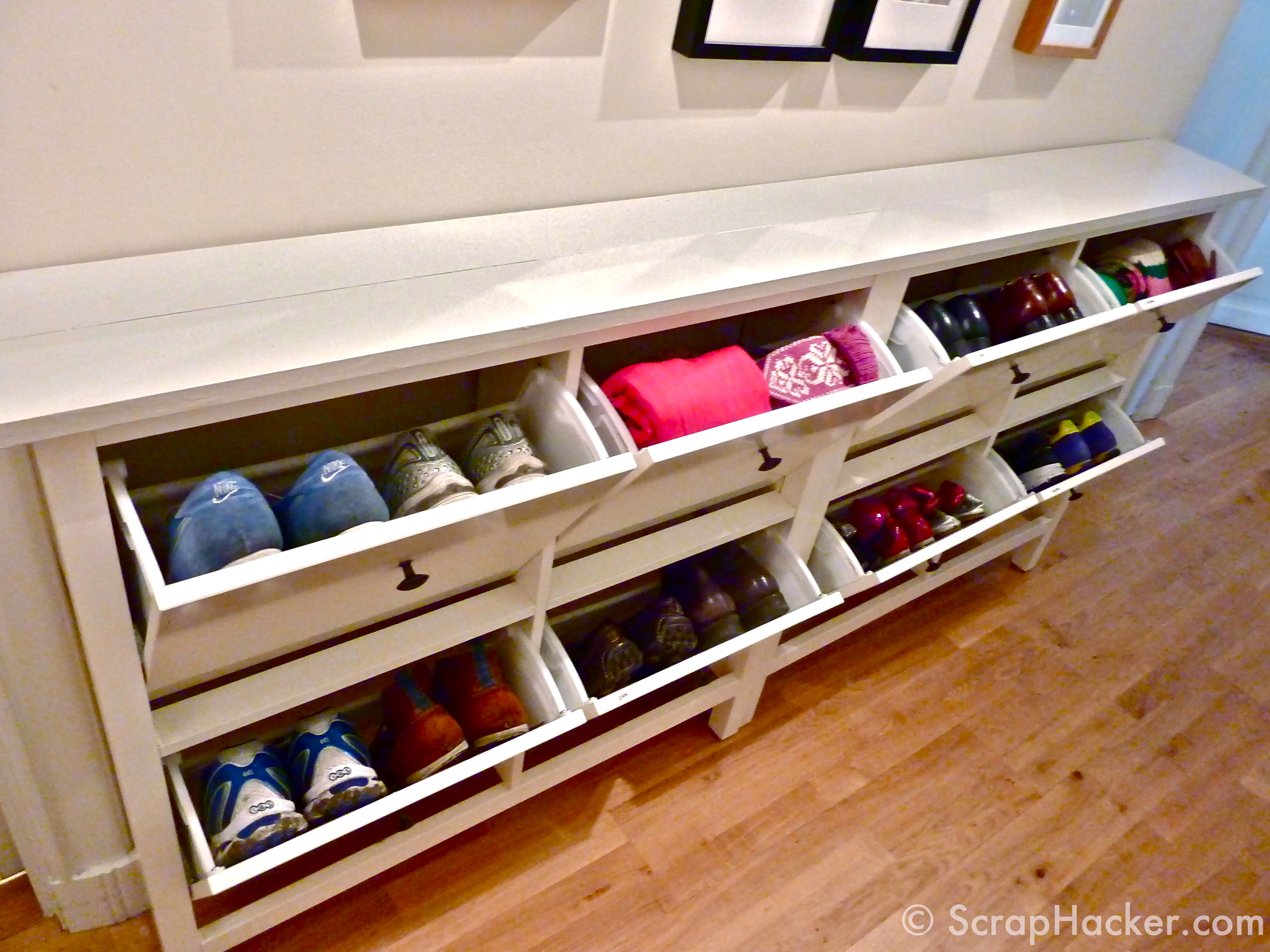 Ikea Hemnes Hack Storage Could Also Be Used To Store Hats And Scarves And Purses Ikea Hemnes Shoe Cabinet Ikea Shoe Storage Diy Shoe Storage