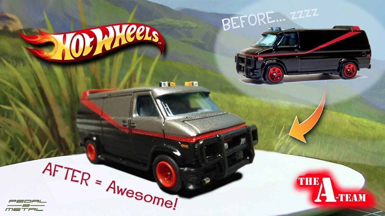 Hot Wheels A Team Gmc Van Complete Redo Gmc Vans Hot Wheels Gmc