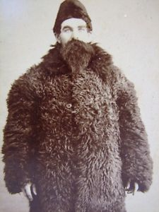 595d1459e46 Mountain Man in Fur Coat Antique Cabinet Photograph