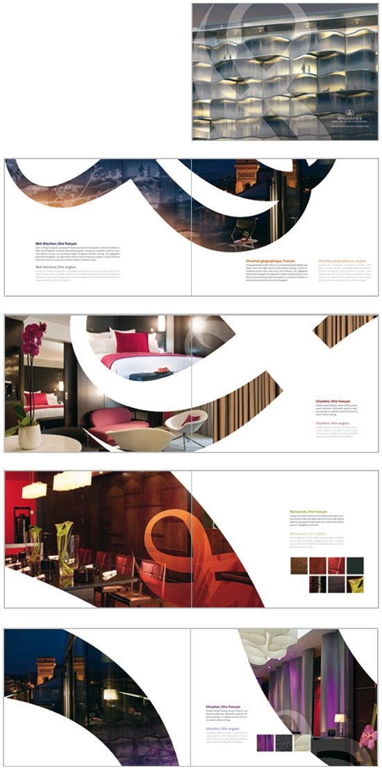 Design book, ebook interior or layout Print design layouts - hotel brochure template