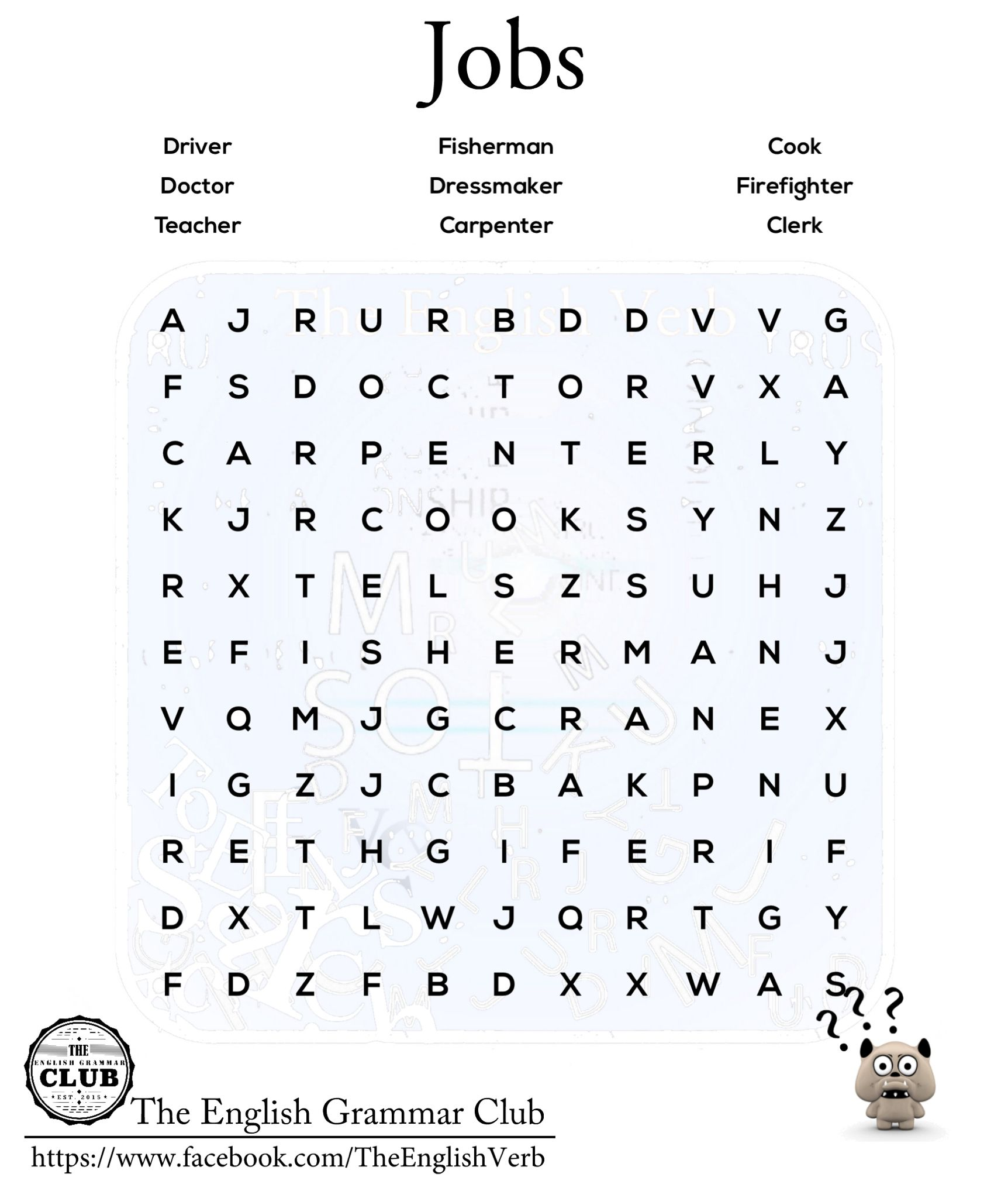 can you the jobs esl word search the objective of this can you the jobs esl word search the objective of this puzzle is