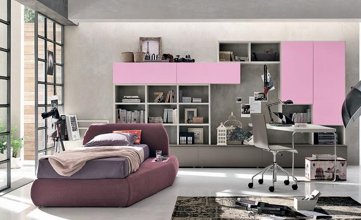 tomasella #cameretta #letto #singolo camera da letto #arredamento ...