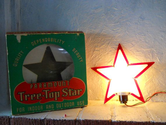 Hold for HNOELD -- VINTAGE Paramount Lighted Christmas Tree Top Star