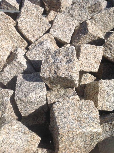 Paves Pour Le Sol En Granit Jaune Beige Du Portugal Toutes Les Faces Sont Tranchees Sol En Granit Granit Le Sol