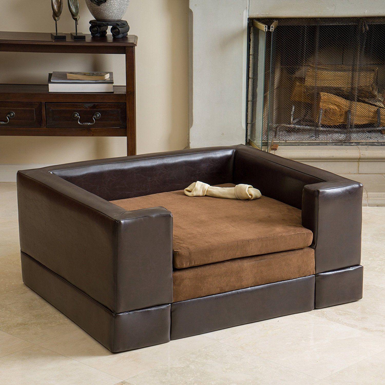 A Pet S Dream Large Brown Rectangular Cushy Dog Sofa Pet Bed Pet
