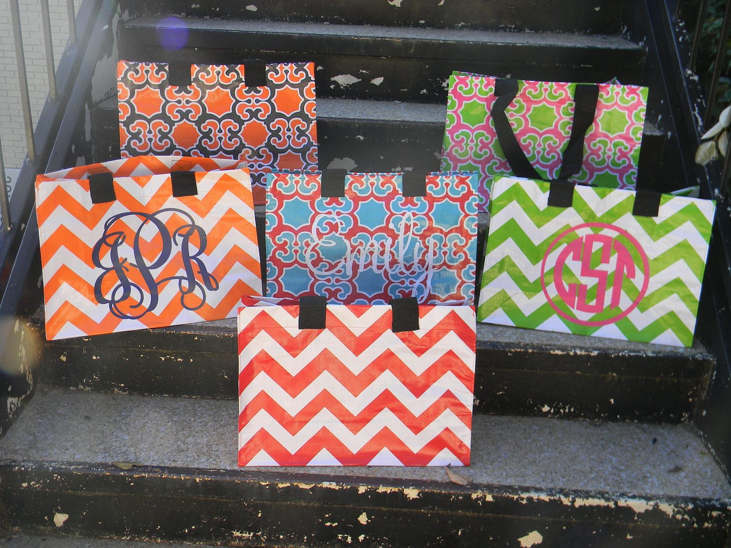 Simply Southern Personalized Monogrammed Reusable Tote Bag