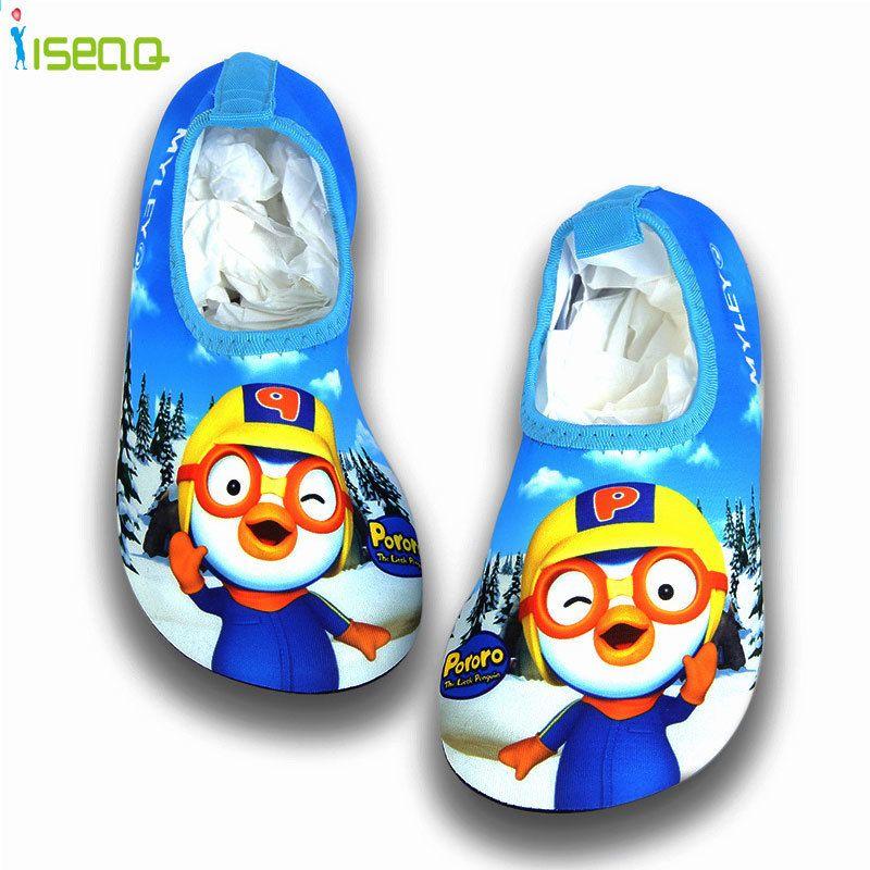 Dzieci Plywac Buty Kreskowka Oddychajace Drifting Antyposlizgowe Buty Do Pielegnacji Skory Sliczne Buty Plazowe Drukuj San Beach Shoes Swim Shoes Cartoon Print