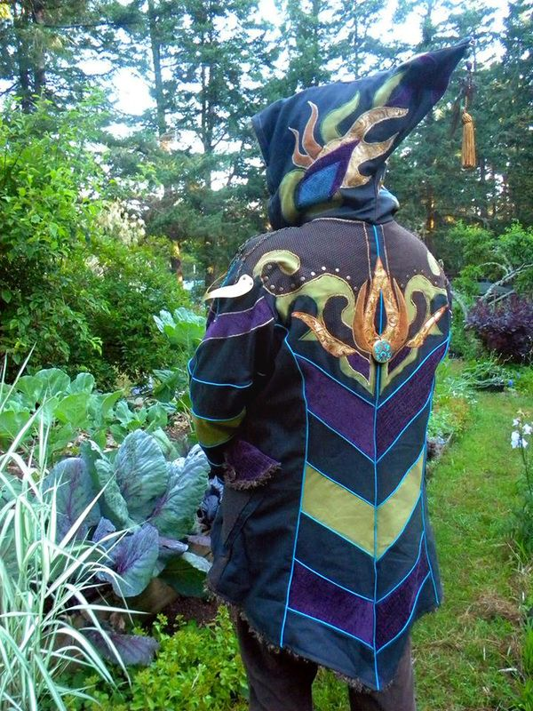 """LUN LONG COATS : $800 : Featuring """"The works"""". Full-On applique on hood, full back and front with some on sleeves as well. Made from Canvas with fleece lining or satin lining. Includes antique..."""