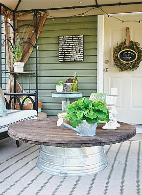 Attirant 7 Clever Coffee Table Substitutes: A Wash Bin For Outdoor Seating.