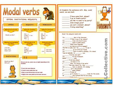 搜图屋 modal verbs worksheet free