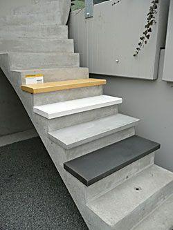 Treppenstufen aus Beton | stairs design | Pinterest | Treppenstufen ...
