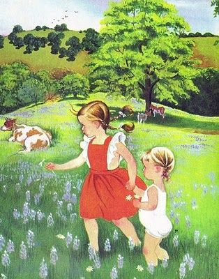 Eloise Wilkins portrays all the native innocence of children. I think this is from My Little Book About God, but am not quite sure.