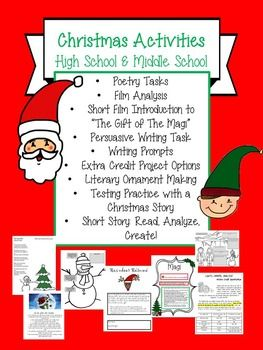 Christmas Activities High School And Middle School English High School Activities Middle School English English Teacher High School