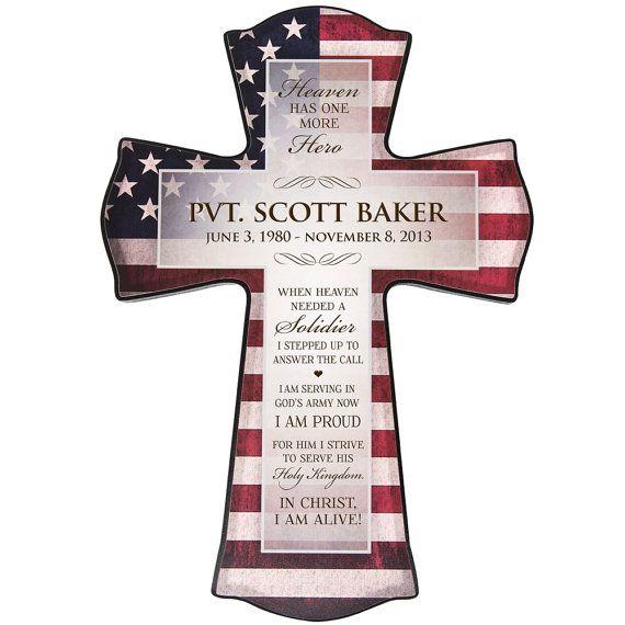 Flag cross,American flag cross,Personalized Memorial cross,USA CROSS,In memory wood cross,American flag wall cross,Forever In my heart cross