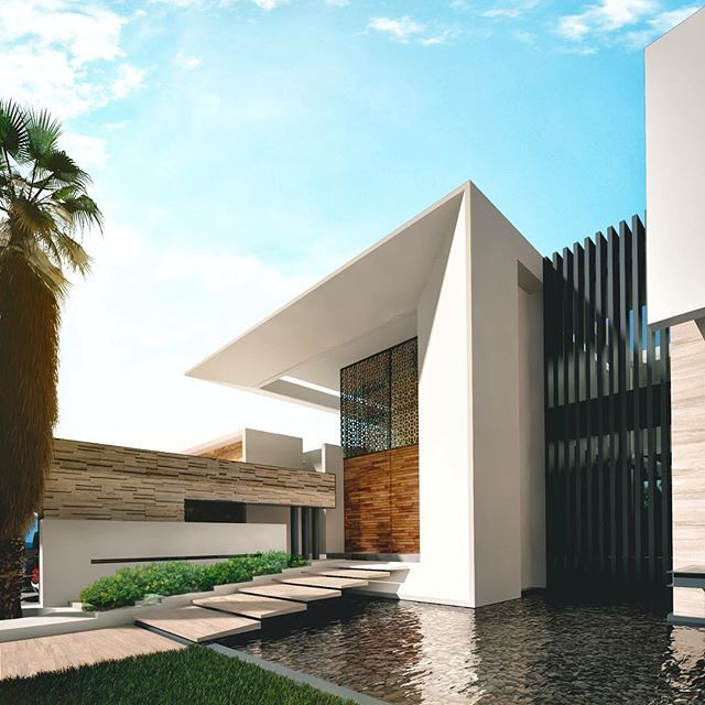 Modern Mexican Build With Tropical Gardens |Modern Mexican Architecture