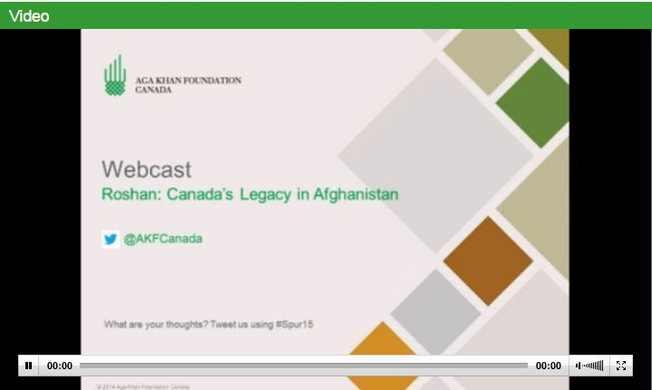 Spur and Aga Khan Foundation Canada presents Roshan's CEO and Canadian native, Karim Khoja, to a discussion of the mobile tech sector in Afghanistan. The live webcast of this event is now on! Join ...