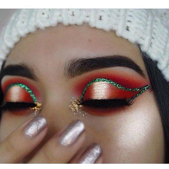 18 Weihnachten Make-up Inspiration für Ihre   – Fashion Style