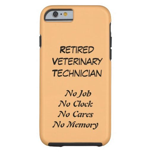 Retired Veterinary Technician Tough Iphone  Case  Retired