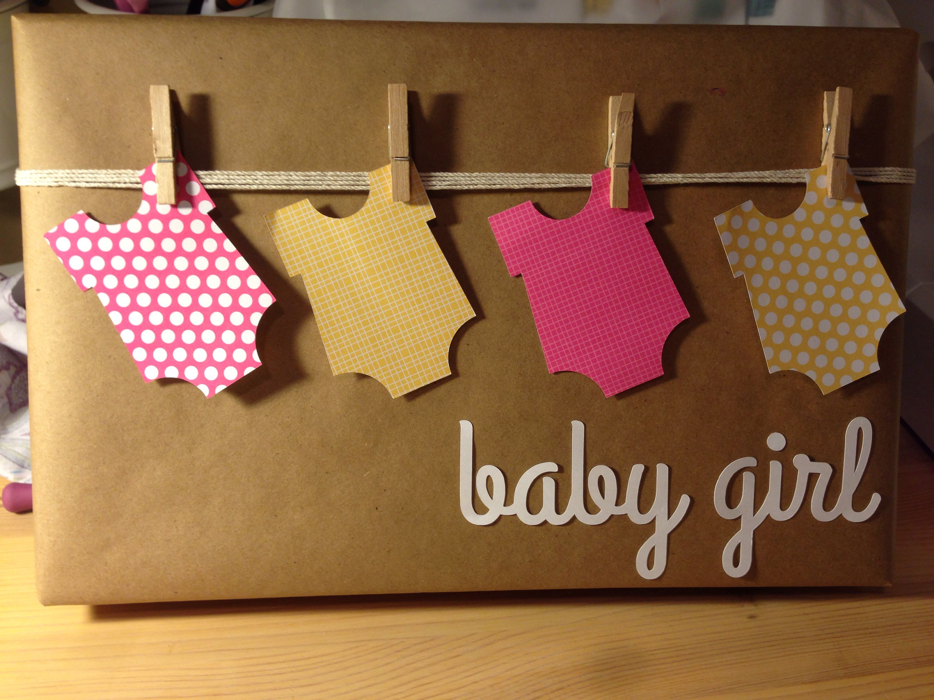 Gift Wrap For Baby Shower Silhouettecameo Babygirl Gift