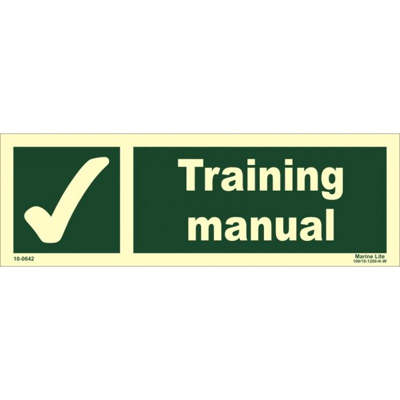 EXIT MAN LEFT (10x30cm) PhotVin IMO sign 114410 - Imostickers - training manual