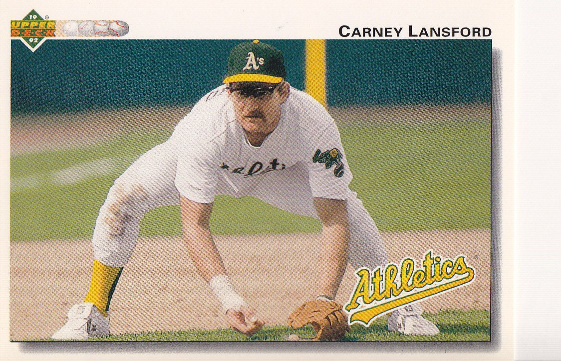 1992 Upper Deck Carney Lansford He Is The Reason I Play 3rd