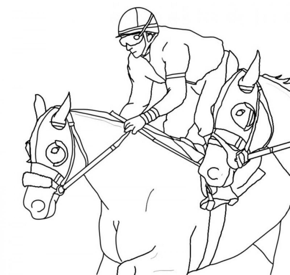 Race Horse Coloring Pages K5 Worksheets Horse Coloring Pages Horse Coloring Horse Coloring Books