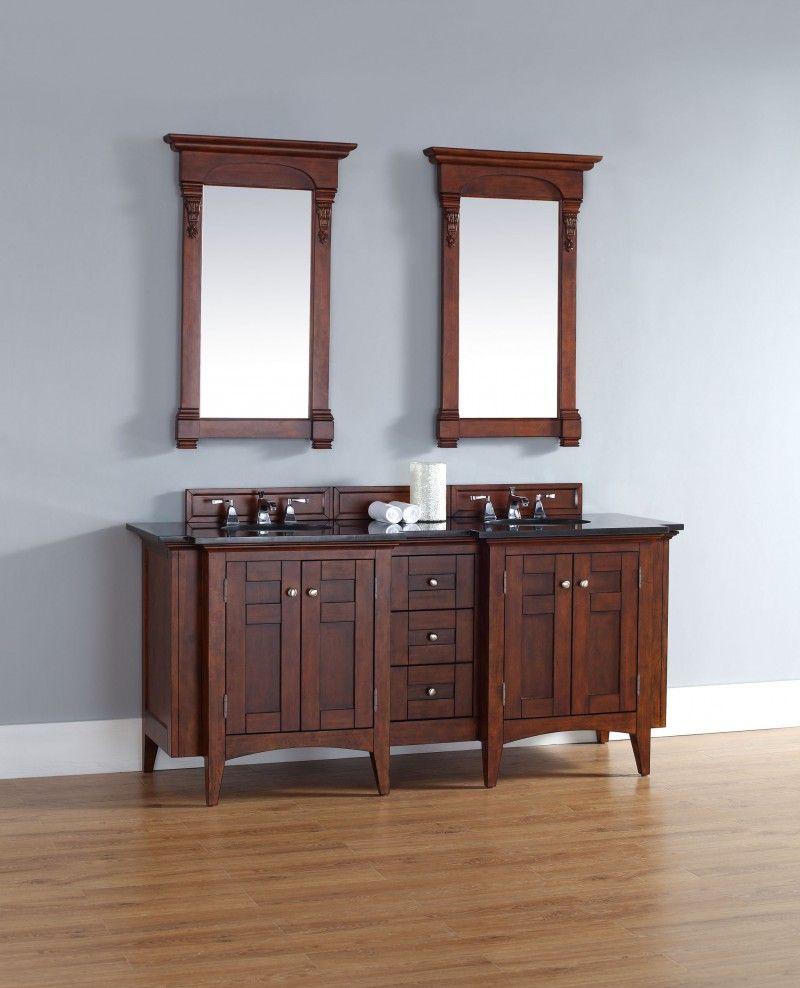 This 72 Inch Warm Cherry Double Sink Bathroom Vanity Http Www Listvanities