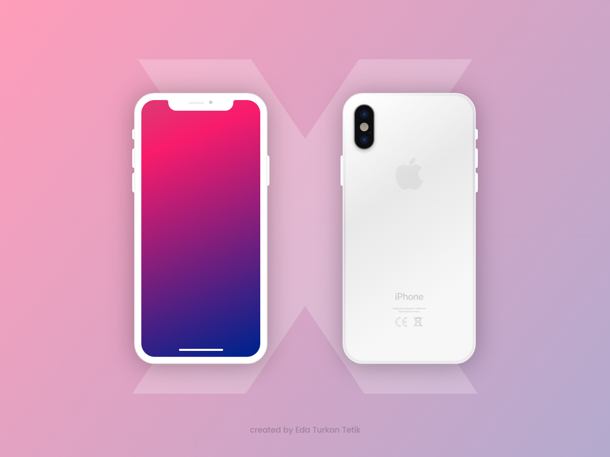 Featuring The Breathtaking Psd Mockup Of Flat Free Iphone X White And Black Versions Download This Psd From The Original Sour Iphone Iphone Mockup Free Iphone