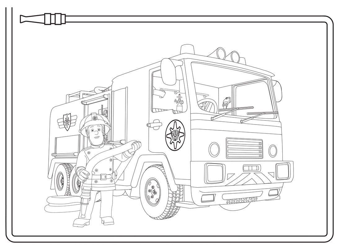 Brandweerwagen Ausmalbilder Feuerwehr Ausmalen Ausmalbilder