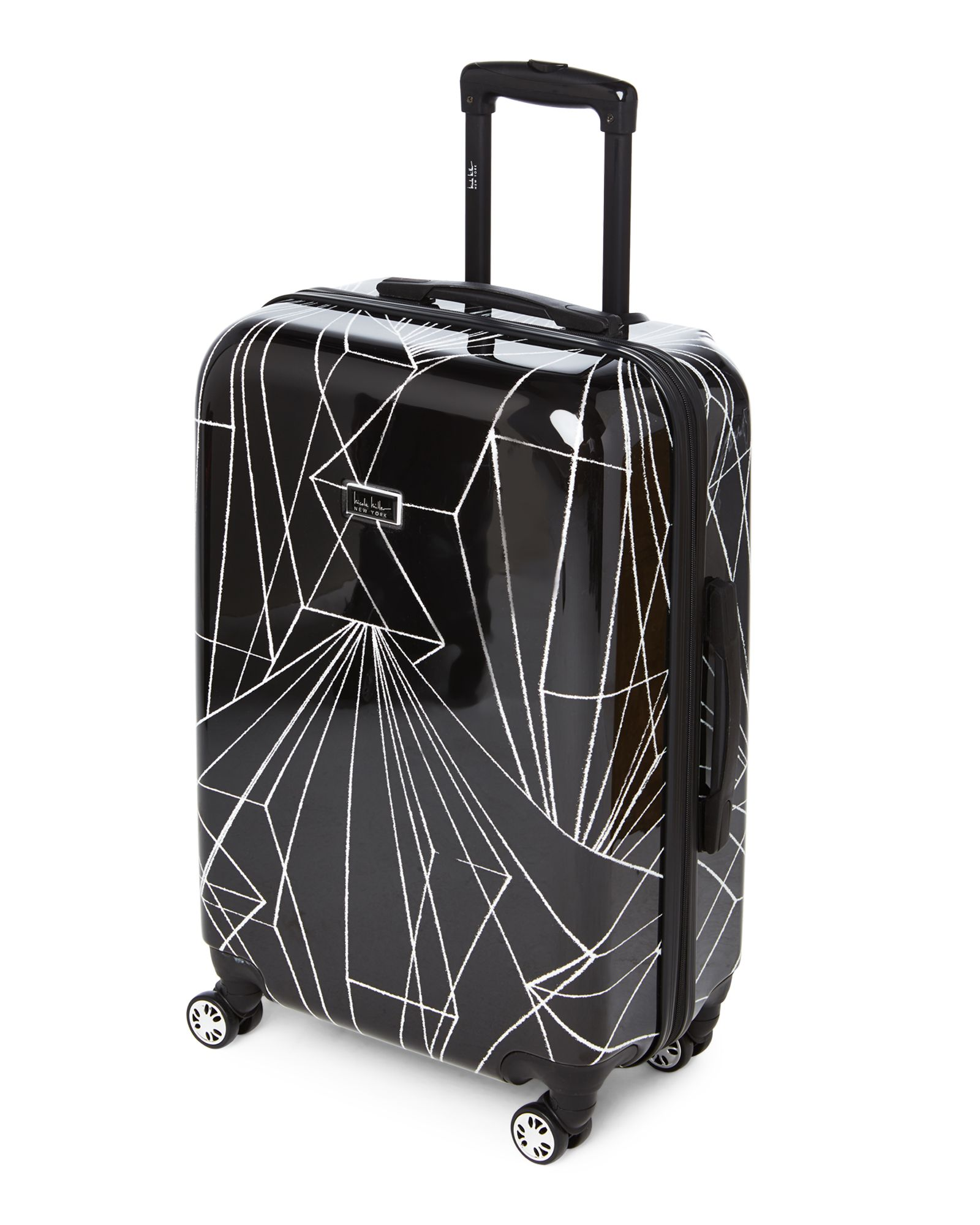 Nicole Miller 24 Linear Upright Spinner Gym Leotards Travel Luggage Bags