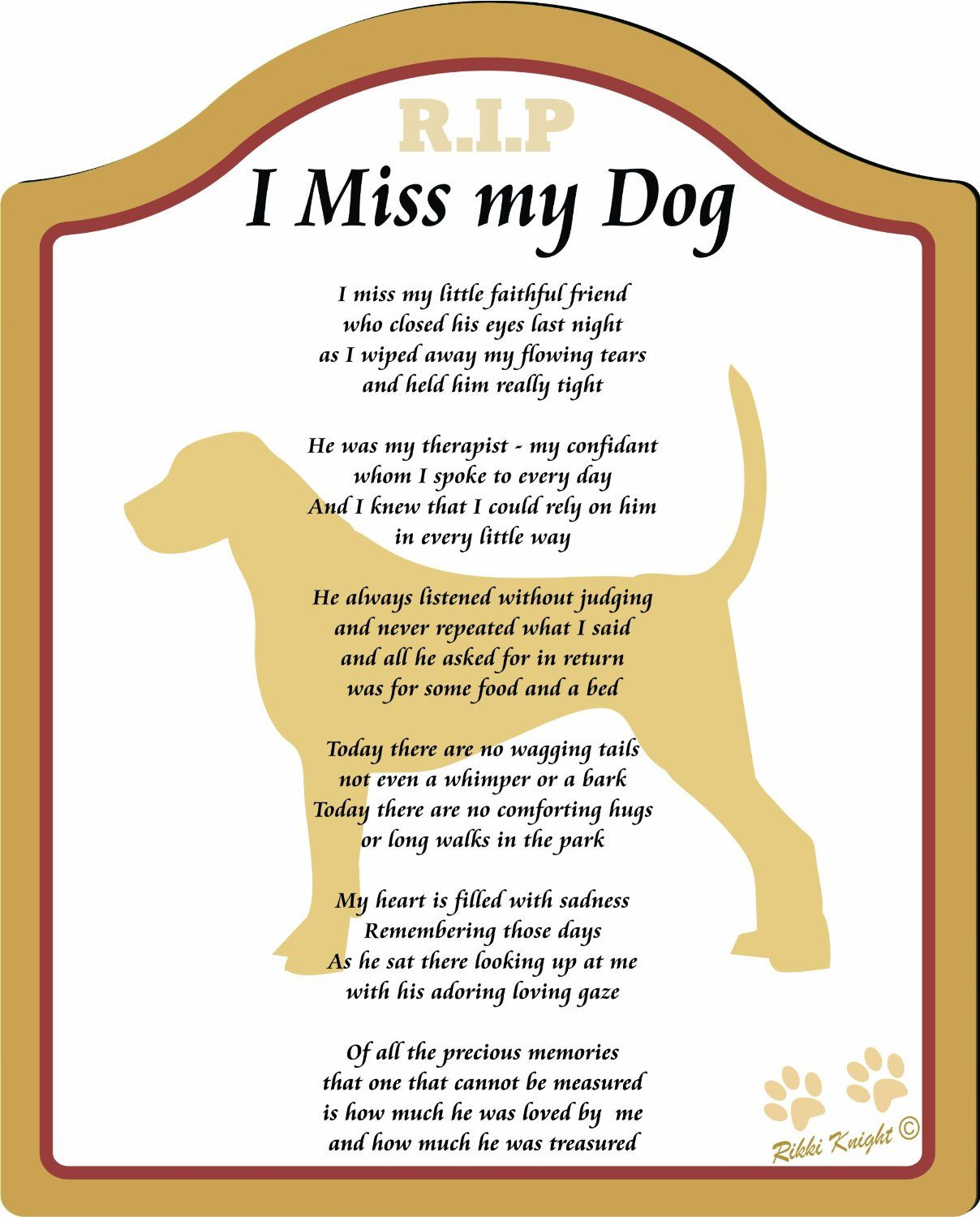 I Miss My Dog Poem