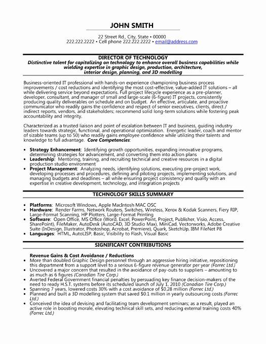 25 information technology resume template in 2020  resume