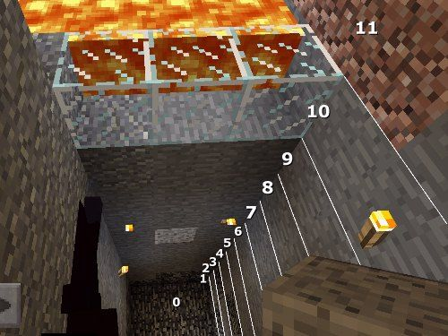 Underground lava lakes typically are at level (layer) #10