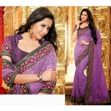 Buy shilpkala designer brasso #Net_Saree at reasonable prices. Visit @ http://goo.gl/1Pwgv1