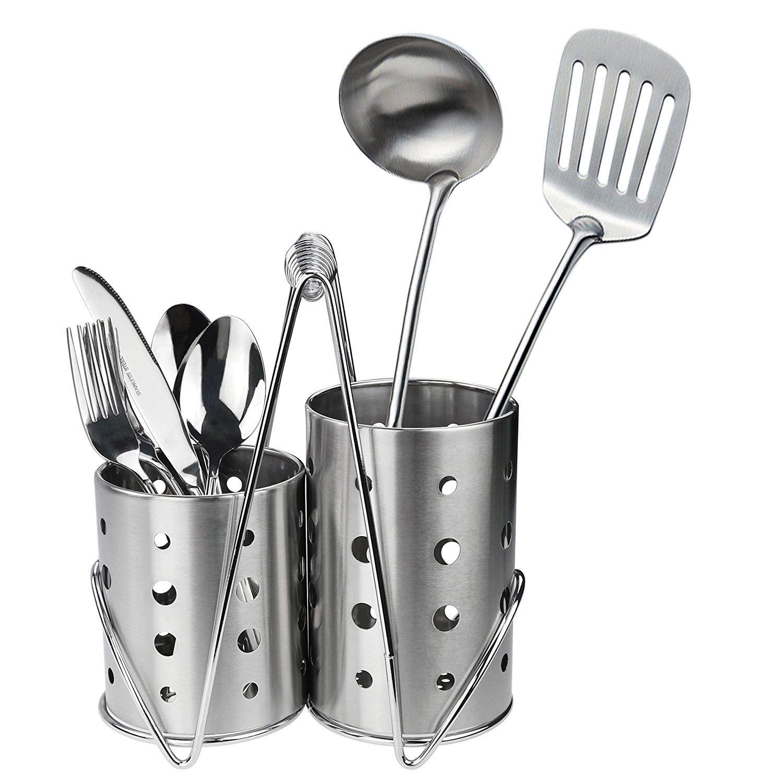 Ggbin Kitchen Flatware Caddy Holder Stainless Steel Utensil