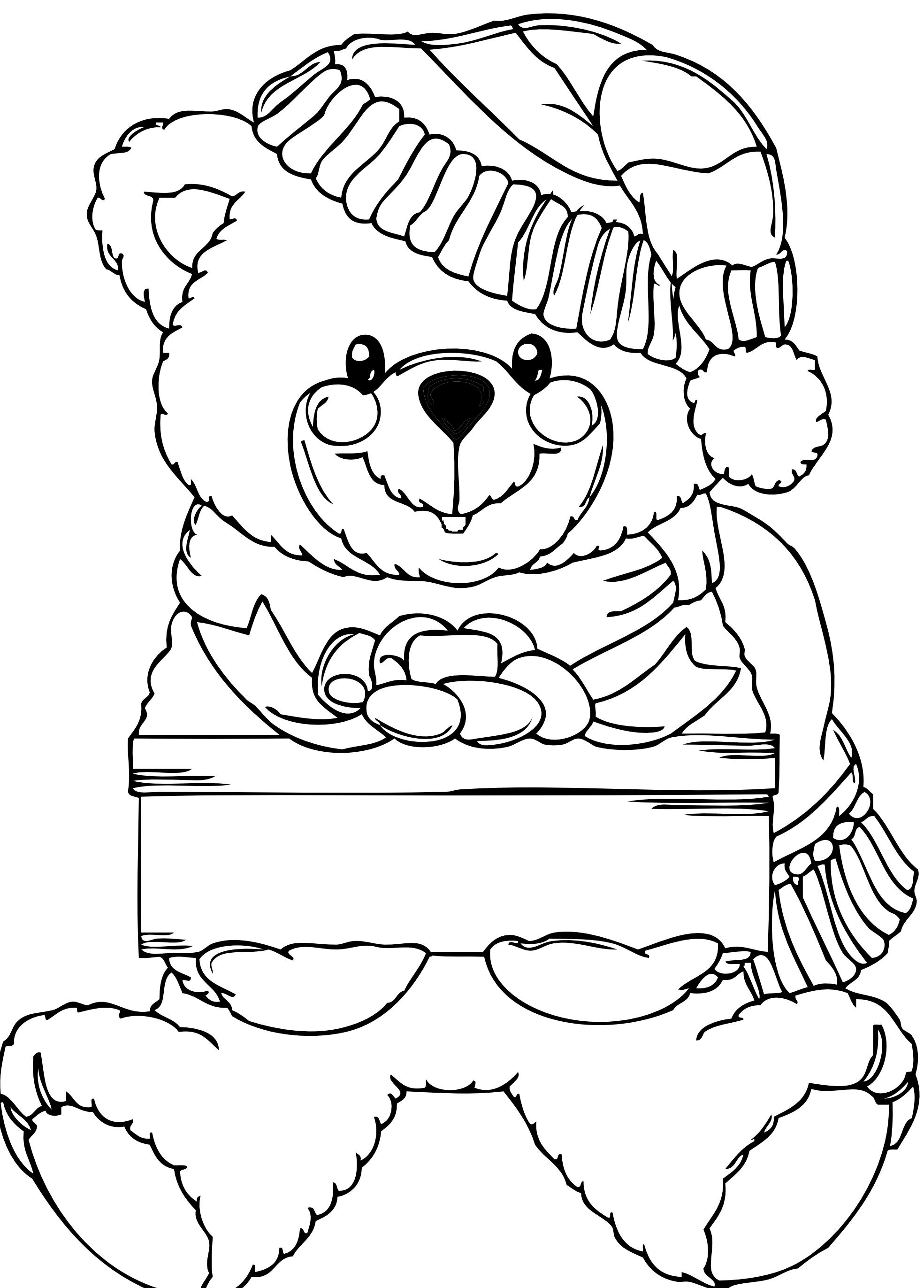 The toy that saved christmas coloring pages ~ Teddy Bear Happy Xmas | Christmas coloring pages, Teddy ...