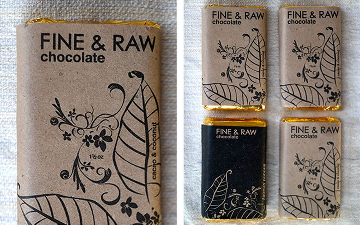 Fine & Raw chocolate bars, the best chocolate ever.