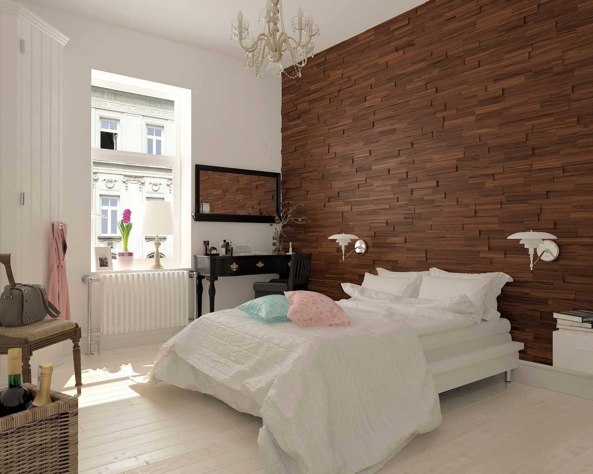 A new hot trend in wall design, 4D Mosaic Wood Panels made of real