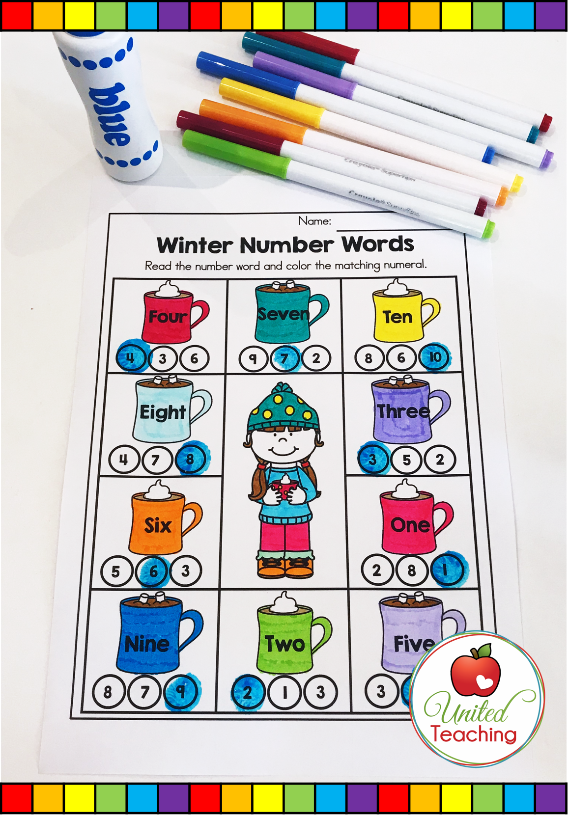 Winter Math Worksheets 1st Grade