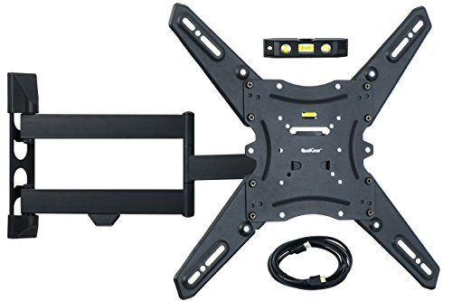 Qualgear Qg Tm 021 Blk Universal Ultra Slim Low Profile Articulating Wall Mounting Kit For Most 23 Inch To 47 Inch And Some 55 Inch Led Tvs W Hdmi V1 4 Cable Dengan Gambar