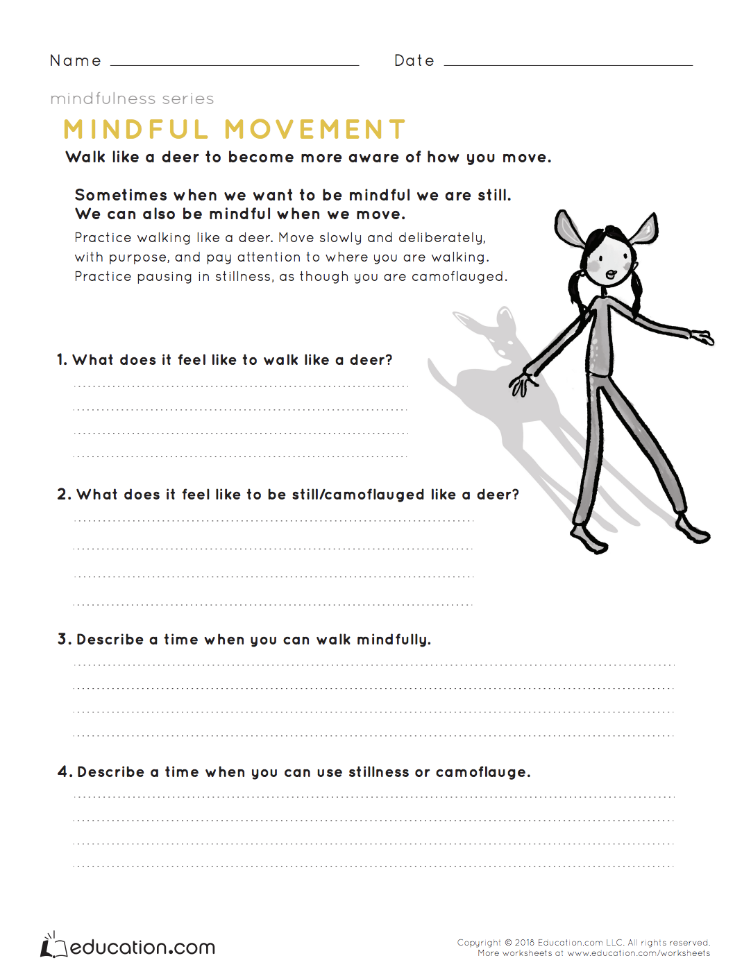 Mindfulness: Mindful Movement | Health lesson plans ...