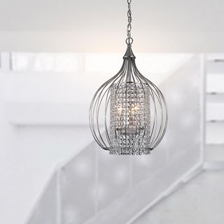 Marcela Antique Copper Crystal Bead Chandelier - 16276261 - Overstock.com Shopping - Great Deals on The Lighting Store Chandeliers & Pendants