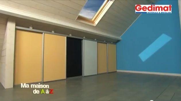 bricolage-fabriquer-un-placard-sous-pente Placards Pinterest - fabriquer un placard avec porte coulissante