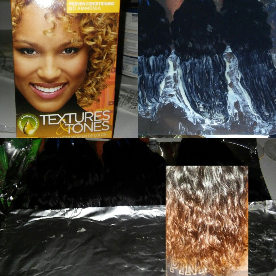 Fredena Does Her Own Hair Dye I Decided To Try My Hand At Doing An Ombre Dye On My Indian Water Wave Hair I Used Clair Honey Blonde Blonde Color Ombre Dyed