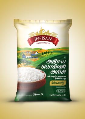 Download Jensian Brand Rice Bag Organic Rice Packaging Cereal Packaging Packaging Template Design