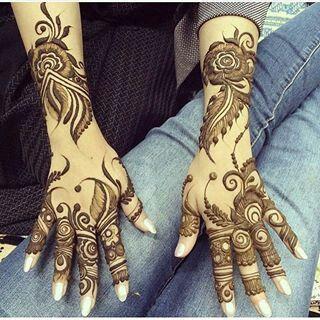 Henna in the arabic style feathers and florals khaleeji fashionable also raziya begum raziyabegum on pinterest rh